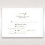 Brown Embossed Classic Couture, Gold - RSVP Cards - Wedding Stationery - 30