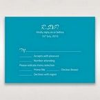 Blue Mystic Forest Band Laser Cut - RSVP Cards - Wedding Stationery - 7