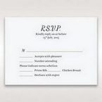 White Laser Gated Elegance Laser Cut Pocket - RSVP Cards - Wedding Stationery - 80