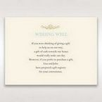 Yellow/Gold Regal Splendor - Wishing Well / Gift Registry - Wedding Stationery - 70