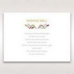 White Wild Floral Wreath - Wishing Well / Gift Registry - Wedding Stationery - 44