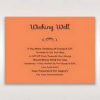 Orange Laser Peacock Laser Cut Pocket With Foil - Wishing Well / Gift Registry - Wedding Stationery - 25