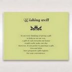Green Laser Vintage Rose Layered Laser Cut - Wishing Well / Gift Registry - Wedding Stationery - 35