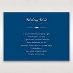 Blue Flower Sash I Laser Cut  - Wishing Well / Gift Registry - Wedding Stationery - 72