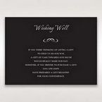 Black Laser Contempo Laser Cut Pocket - Wishing Well / Gift Registry - Wedding Stationery - 89