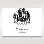 Black Black, White Chandelier - Thank You Cards - Wedding Stationery - 44