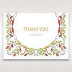 White Wild Floral Wreath - Thank You Cards - Wedding Stationery - 7