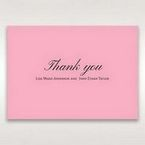 Pink Pretty in Pink Modern Couture - Thank You Cards - Wedding Stationery - 82