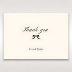 Brown Shimmering Gold Floral Chains - Thank You Cards - Wedding Stationery - 55