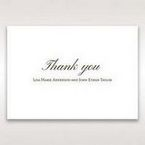 Brown Embossed Classic Couture, Gold - Thank You Cards - Wedding Stationery - 85
