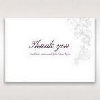 Pink Embossed Romantic Couture, Pink - Thank You Cards - Wedding Stationery - 93