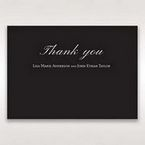 Black  Elegant Swirls, Silver & White - Thank You Cards - Wedding Stationery - 31