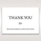 White Romantic Laser Cut - Thank You Cards - Wedding Stationery - 59