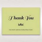 Green Laser Vintage Rose Layered Laser Cut - Thank You Cards - Wedding Stationery - 46