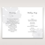 Silver/Gray Twinkling Rose - Order of Service - Wedding Stationery - 81