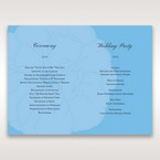 Blue Urban Flower Handcrafted - Order of Service - Wedding Stationery - 89