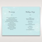 Blue Sculpted White Flower - Order of Service - Wedding Stationery - 95