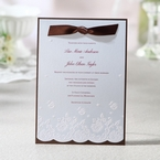 Brown Floral Couture with Ribbon - Wedding invitation - 25