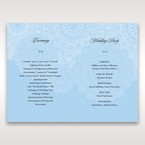 Blue Handmade Vintage Lace Floral - Order of Service - Wedding Stationery - 13