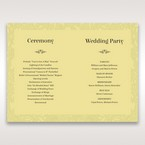 Green Magical Garden - Order of Service - Wedding Stationery - 31