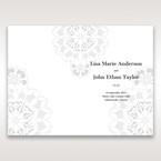 Black Laser Cut Floral Frame - Order of Service - Wedding Stationery - 38