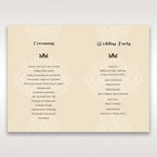 Yellow/Gold Jeweled Laser Cut - Order of Service - Wedding Stationery - 41