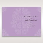 Purple Laser Cut Flower Frame III - Order of Service - Wedding Stationery - 52