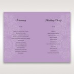 Purple Laser Cut Flower Frame III - Order of Service - Wedding Stationery - 53