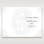 White Laser Cut Floral Lace - Order of Service - Wedding Stationery - 54