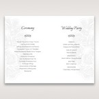 White Laser Cut Floral Lace - Order of Service - Wedding Stationery - 55