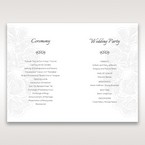 White Laser Cut Floral Lace - Order of Service - Wedding Stationery - 61