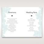 Blue Laser Cut Flower Wrap - Order of Service - Wedding Stationery - 67