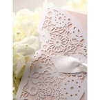 White laser cut detail; light pink detail