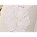 Traditional white sculptured urban flower design, jeweled , deatail