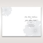 White True Love - Order of Service - Wedding Stationery - 78