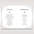 White Enchanted Forest I Laser Cut P - Order of Service - Wedding Stationery - 87