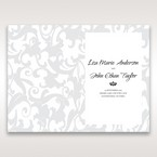 Blue Laser Scrolling Grandeur Layered Laser Cut - Order of Service - Wedding Stationery - 94