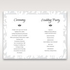 Blue Laser Scrolling Grandeur Layered Laser Cut - Order of Service - Wedding Stationery - 95