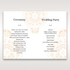 Orange Laser Cut Floral Frame - Order of Service - Wedding Stationery - 25