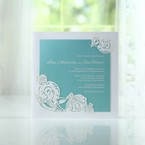 Green Ocean Frame I Laser Cut - Wedding invitation - 61