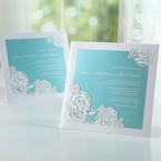 Green Ocean Frame I Laser Cut - Wedding invitation - 75