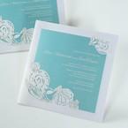 Green Ocean Frame I Laser Cut - Wedding invitation - 78