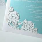 Green Ocean Frame I Laser Cut - Wedding invitation - 79