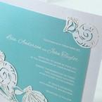 Green Ocean Frame I Laser Cut - Wedding invitation - 80