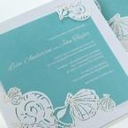 Green Ocean Frame I Laser Cut - Wedding invitation - 81