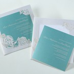 Green Ocean Frame I Laser Cut - Wedding invitation - 82