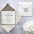 White Modern Pocket-Grey - Wedding invitation - 65