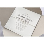 White Modern Pocket-Grey - Wedding invitation - 17