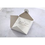 White Modern Pocket-Grey - Wedding invitation - 19