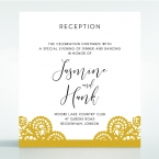 Breathtaking Baroque Foil Laser Cut reception card DC120001-DG